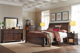 aspen home bancroft sleigh bedroom set in java