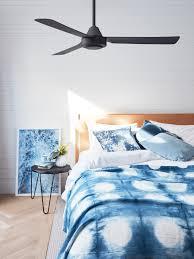 sheet fan bayside calypso 122cm 3 blade fan only in black