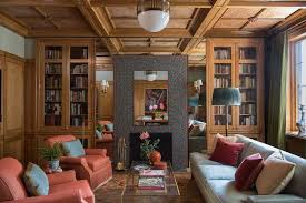 a private library in new york designed by thomas jayne relies upon symmetry which wharton