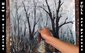 learn how to oil paint a landscape foggy landscape painting demo by valery rybakow you