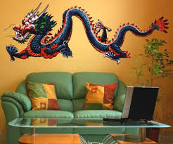 full color dragon wall decal