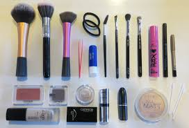 your makeup bag now so this is what s in my makeup bag on a trip when i have a