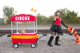 how to make circus themed costumes lion tamer and lion