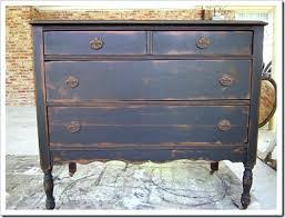 antique painted furnitureAntique Furniture Finish  Black Dresser With Antiqued Paint