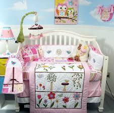 PINK CRIB BEDDING SET FLOWER GARDEN Infant Baby Girl Nursery 13 Pc Q .