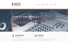 Basic Website Templates Enchanting Recording Studio Responsive Website Template 48