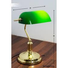 ideallux lawyer banker lamp brass gold green lawyer tl1 ottone