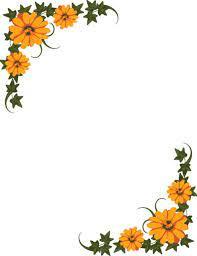 flower border flower clip art border