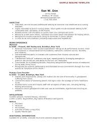 Certified Nurse Assistant Resume Full Size Of Large Size Of Medium