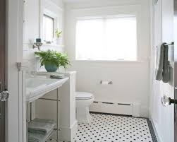 white beadboard bathroom. Example Of A Mid-sized Arts And Crafts 3/4 White Tile Stone Beadboard Bathroom E
