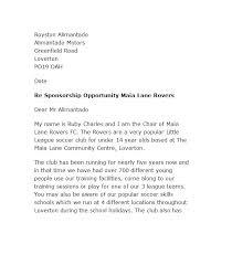 Format Of A Sponsorship Letter Enchanting Printable Sponsorship Letter Template Draft Sample Financial Sponsor