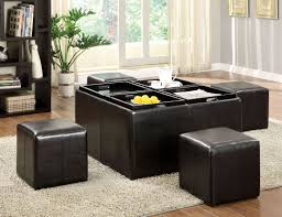 Storage Living Room Furniture Storage Ottoman With Tray Perfect Appearance And Cool Function
