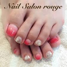 夏ハンドシンプルグラデーションラメ Nail Salon Rougeのネイル