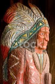 cigar indian wooden carving statue figure headdress