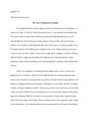 english essay writing college of the course 4 pages english 119 draft teen pregnancy