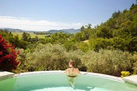 infinity pool united states. Auberge Du Soleil, Napa Valley, California, United States - Infinity Pool At The