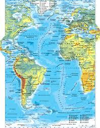 Атлантический океан Карта Атлантического океана Географическое  Карта Атлантического океана