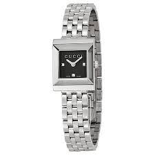 gucci g frame black guilloche dial las watch ya128403