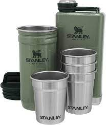 Amazon.com: Stanley Stainless Steel Shot Glass and Flask Gift Set, Outdoor  Adventure Pack with 4 Metal Shot Glasses, 8oz Whisky Flask, and Travel  Carry Case, Best Outdoorsmen and Camping Gift for Men: