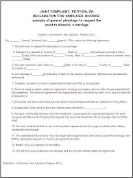 Example Of Divorce Decree New Divorce Forms Free Word Templates Legal Divorce Papers Real