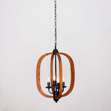 arches wood 4 light chandelier oil rubbed bronze