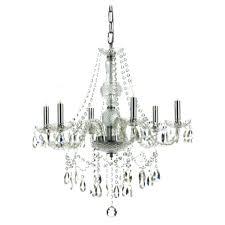 hampton bay lake point chandelier hampton bay lake point 6 light chrome and clear crystal chandelier