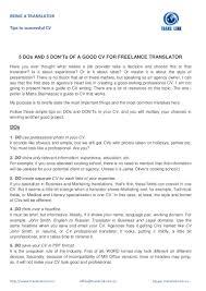 Translator Resume Sample Resume Sample For Translation Job Therpgmovie 16