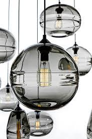 hand blown lighting. john pomp hand blown sculpted glass pendants lighting