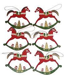 Khevga Christbaumschmuck Schaukelpferd Weihnachtsschmuck