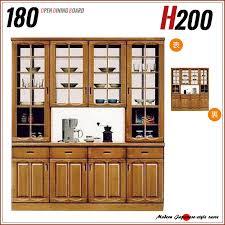 kitchen shelf double sided type glass cabinet glass door double sided cupboard 180 width height 200 japanese dining board open type open board okawa