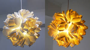 Dixie Cup Lights Create This Diy Rose Pendant Lamp From Paper Cups