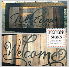 wood pallet painting ideas. distressed/hand painted pallet wood welcome sign painting ideas d