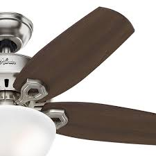 42 inch hunter fan builder small room ceiling fan with light brushed nickel finish alt2