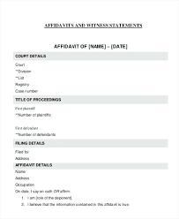 Sample Affidavit Magnificent Sample Affidavit Of Loss Drivers License Template Witness Statement