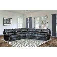 grey top grain leather power reclining sectional sofa pulaski furniture costco