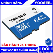 Thẻ nhớ Yoosee 64Gb U3 tốc độ cao chuyện dụng cho Camera IP wifi,  Smartphone, loa đài