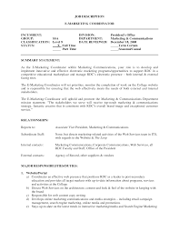 Marketing Coordinator Resume Example Essaymafia Com