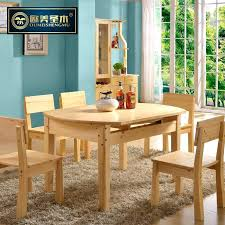 and holy wood round dining tables chairs all solid pine table four small apartment flip