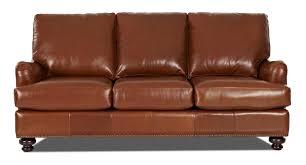 Leather Match Stationary Sofa