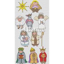 Nativity Characters Cross Stitch Chart Download