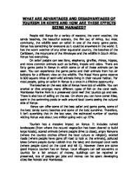 what are the advantages and disadvantages of tourism in  page 1 zoom in