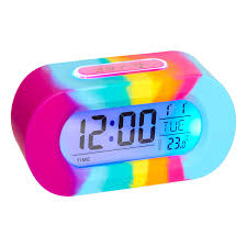 Disney Princess Magical Light Up Alarm Clock Image For Silicone Rainbow Talking Clock From Smiggle Uk