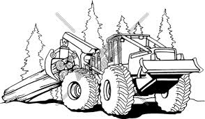 logging coloring pages log skidder clip art burn ideas cars trucks machines pinterest