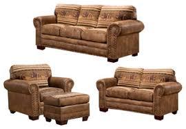 rustic living room furniture sets. Wild Horses, 4 Piece Set With Sleeper Rustic Living Room Furniture Sets S
