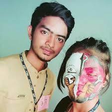 our students won first frize in face painting competition
