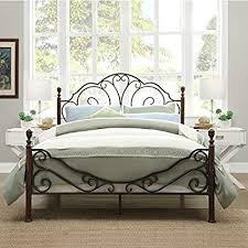 wrought iron bed frame queen. Beautiful Bed LeAnn Graceful Scroll Bronze Iron Bed Frame Queen Intended Wrought Queen