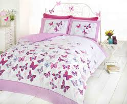 flutter erfly erflies pink girls childrens bedding quilt