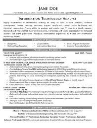 It Help Desk Resume Example Technical Analyst It Support Help Desk