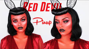 red devil pinup makeup tutorial you