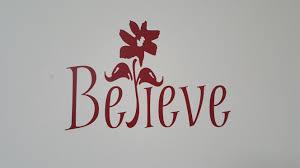 believe wall art